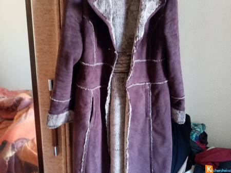 Beau manteau marron en velours