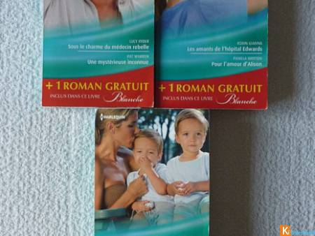 Lot 3 livres Harlequin collection Blanche (lot1)