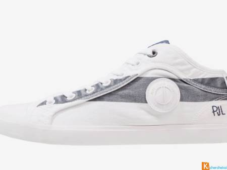 PEPE JEANS IN 45 - Baskets Basses-Blanc Po.43 NEUF