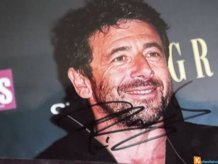 photo couleur signée Patrick Bruel