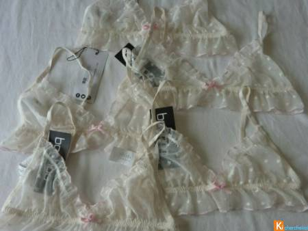Lot 5 Soutien gorge triangle taille S neuf (21)