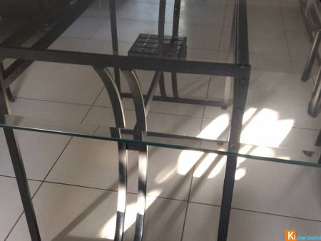 Table verre 10 couverts