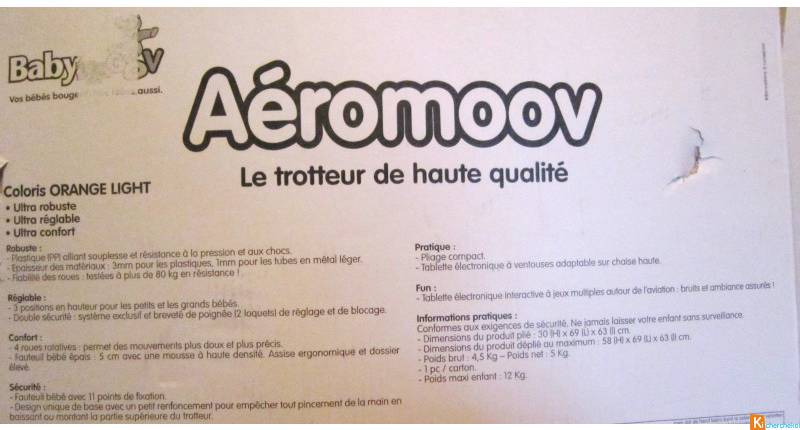 Trotteur BABYMOOV AEROMOOV Orange Light Pé