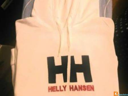 Sweat pull à capuche Helly Hensen XL BLANC neuf
