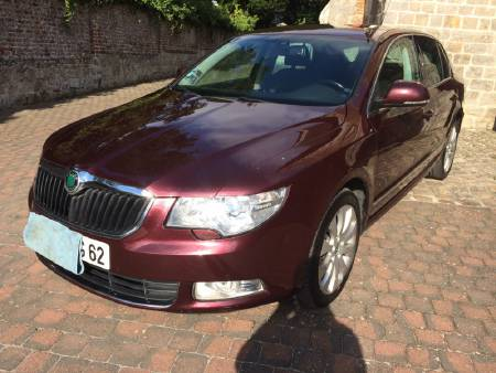 SKODA SUPERB 2008 COUL BORDEAUX 140 CV 170.000 KM