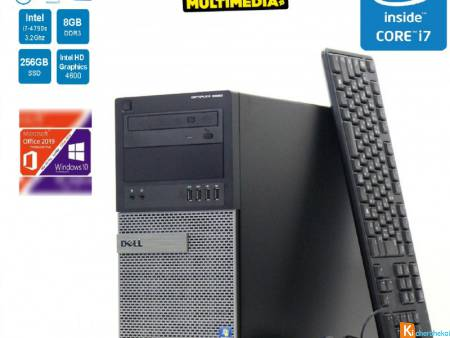 PC DELL OPTIPLEX 9020 CORE I7 4790S 8GB 256 SSD