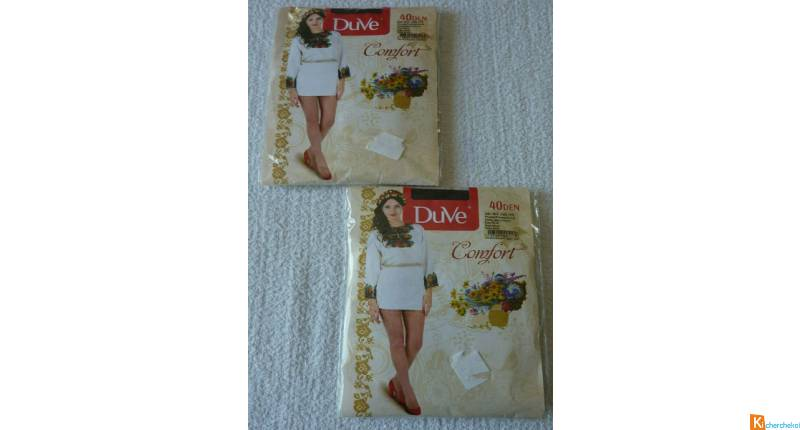 Lot 2 collants taille 2 neuf Duve (39)