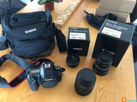 Canon 80D + EFS 18-135 + EFS 10-22 + EF 40
