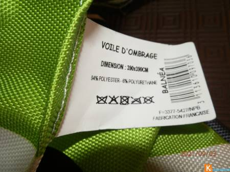 voile d'ombrage EASY neuf