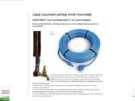 Cable Anti Gel chauffant avec thermostat  60