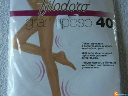 Collant beige taille 2 neuf Filodoro (40)