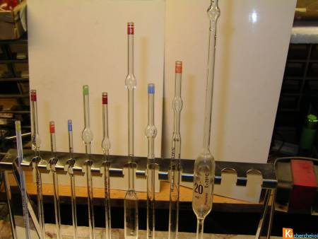 Pipettes et support