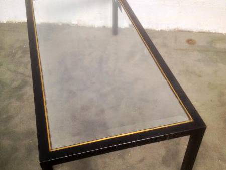 Table Metal Noir Laiton