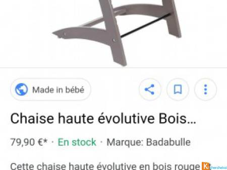Chaises hautes evolutives