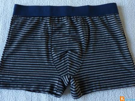 Boxer gris rayures taille L neuf (322)