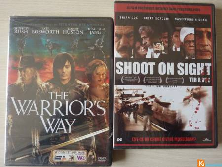 2 DVD The warrior's way et Shoot in sight neuf