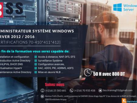 Formation préparation au certificat Windows Server