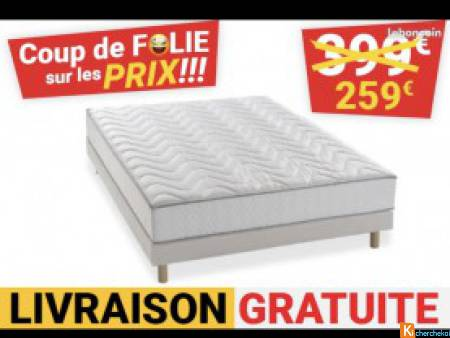 Matelas +sommier neuf sous emballage 239€