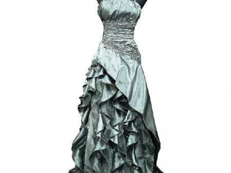 Robe Gde Taille Froufrou gris