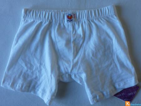 Boxer blanc taille 5 ans neuf (151)