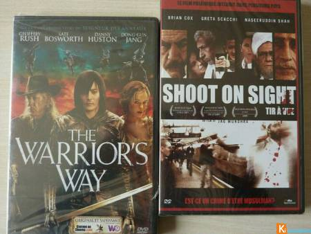 2 DVD The warrior's way - Shoot in sight neuf