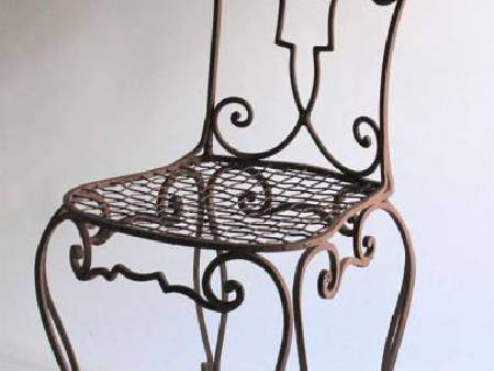 chaises,tables en fer forgé