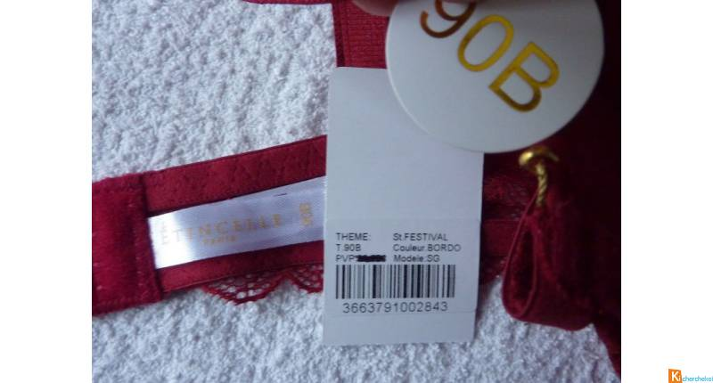 Soutien gorge rouge taille 90B neuf (451)