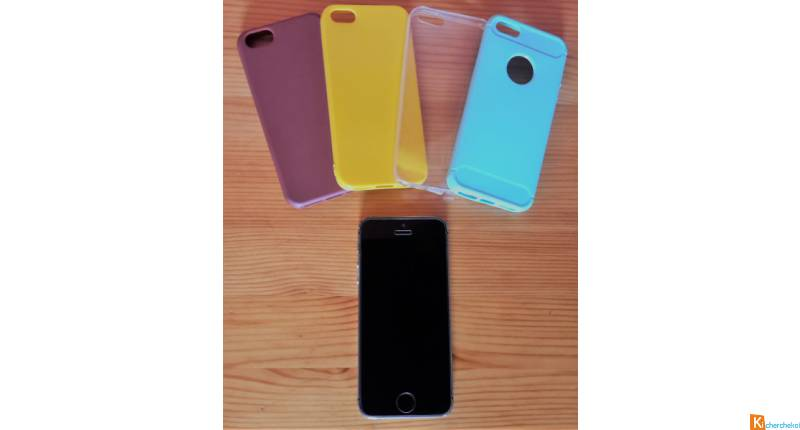 iPhone 5S 32Go Gris Sidéral + 4 coques