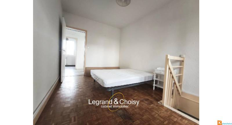 Investissement locatif loué 600€ : Appartement T3 + Cave + Parking loué