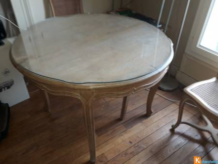 TABLE SALLE A MANGER + CHAISES habiter 75,banlieue