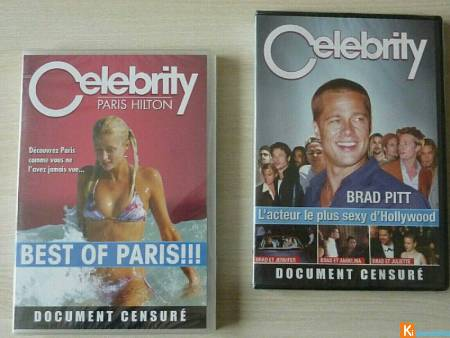 Lot 2 DVD Celebrity Paris Hilton Brad Pitt neuf