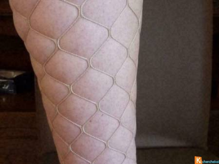 Lot  2 collants beige sexy taille 1-2 neuf (63)