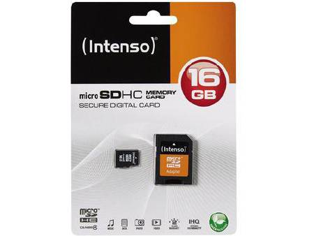 CARTE MEMOIRE INTENSO 16 GB