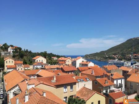 VENTE A PORT-VENDRES, appartement T4, 98m2 sh, terrasse 25m2, parkings, 430 000 € CASTING IMMOBILIER
